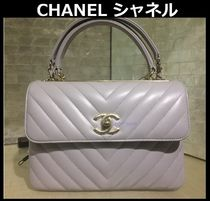CHANEL TIMELESS CLASSICS 2WAY Chain Plain Leather Elegant Style Shoulder Bags