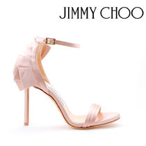 Jimmy Choo Open Toe Plain Pin Heels Party Style Heeled Sandals