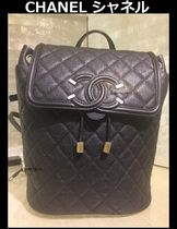 CHANEL TIMELESS CLASSICS Street Style Bag in Bag Chain Plain Leather Elegant Style