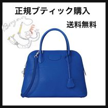 HERMES Bolide 2WAY Plain Leather Elegant Style Handbags