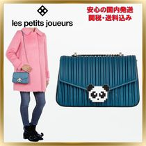 Les Petits Joueurs 2WAY Chain Plain Other Animal Patterns Leather Elegant Style