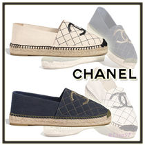 CHANEL Other Check Patterns Round Toe Casual Style Unisex