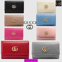 GUCCI GG Marmont Plain Leather Keychains & Bag Charms