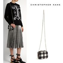Christopher Kane Gingham Casual Style Cambus Blended Fabrics Street Style