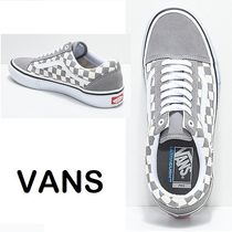 VANS OLD SKOOL Other Check Patterns Unisex Suede Street Style Sneakers