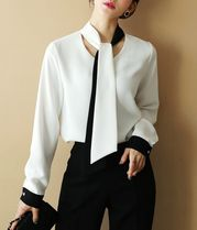 Chiffon Long Sleeves Shirts & Blouses
