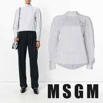 MSGM Stripes Casual Style Cotton Shirts & Blouses