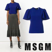 MSGM Casual Style Puff Sleeves Shirts & Blouses