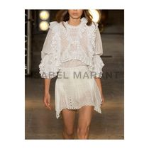 Isabel Marant Short Lace-up Long Sleeves Cotton High-Neck Cropped
