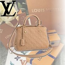 Louis Vuitton MONTAIGNE Monogram 2WAY Leather Elegant Style Handbags