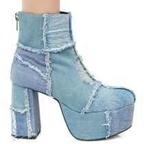 DOLLS KILL Plain Toe Casual Style Street Style Plain Block Heels