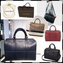 GUCCI Monoglam 2WAY Leather Elegant Style Boston & Duffles