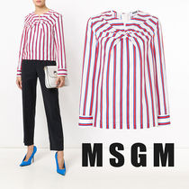 MSGM Stripes Casual Style Long Sleeves Shirts & Blouses