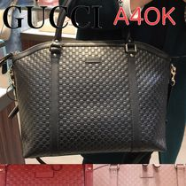 GUCCI Monogram 2WAY Leather Elegant Style Handbags