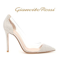 Gianvito Rossi Suede Blended Fabrics Studded Pin Heels Party Style