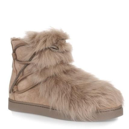 Rubber Sole Fur Ankle & Booties Boots