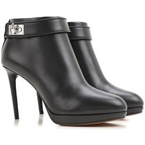 GIVENCHY Round Toe Leather Pin Heels Ankle & Booties Boots