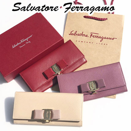 Saffiano Plain Long Wallets