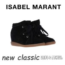 Isabel Marant Round Toe Rubber Sole Casual Style Suede Bi-color Plain