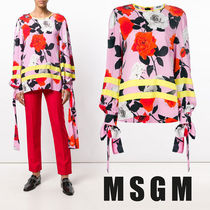 MSGM Flower Patterns Casual Style Nylon Long Sleeves Medium
