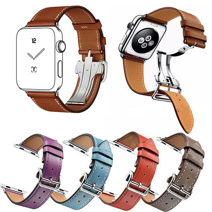 More Watches Unisex Leather Apple Watch Belt Watches