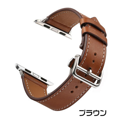 More Watches Unisex Leather Apple Watch Belt Watches 3