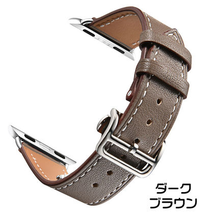 More Watches Unisex Leather Apple Watch Belt Watches 4