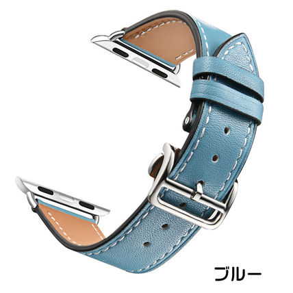 More Watches Unisex Leather Apple Watch Belt Watches 5