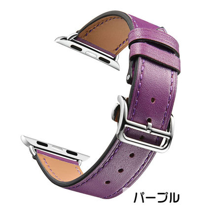 More Watches Unisex Leather Apple Watch Belt Watches 6