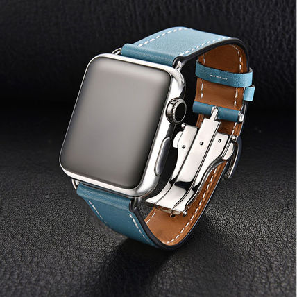 More Watches Unisex Leather Apple Watch Belt Watches 7