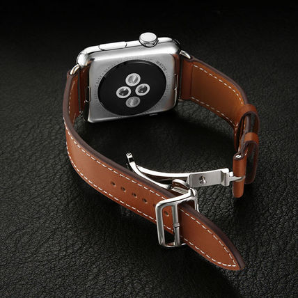 More Watches Unisex Leather Apple Watch Belt Watches 8