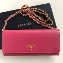 PRADA SAFFIANO LUX Saffiano Plain Long Wallets