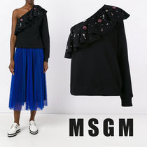 MSGM Flower Patterns Casual Style Cotton Medium Shirts & Blouses
