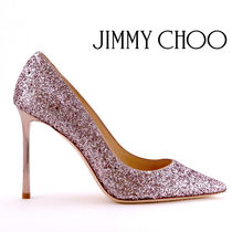 Jimmy Choo Casual Style Plain Leather Pin Heels