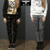 BOY LONDON Monogram Casual Style Street Style Cotton Long