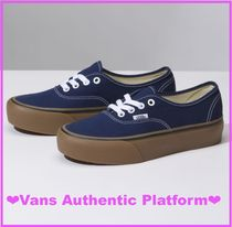 VANS AUTHENTIC Platform Casual Style Suede Street Style