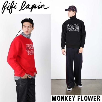 FIFI LAPIN Sweatshirts Crew Neck Pullovers Unisex Street Style Long Sleeves