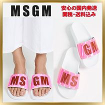 MSGM Open Toe Rubber Sole Casual Style Unisex Sport Sandals