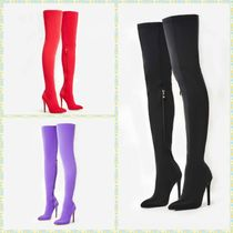 EGO Plain Pin Heels Elegant Style Over-the-Knee Boots