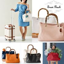 marc AND graham Plain Leather Elegant Style Totes
