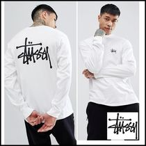 STUSSY Crew Neck Long Sleeves Cotton Long Sleeve T-Shirts