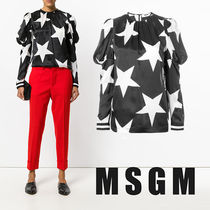 MSGM Star Casual Style Puffed Sleeves Shirts & Blouses