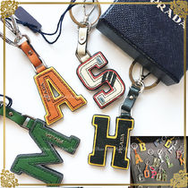 PRADA Unisex Leather Keychains & Bag Charms
