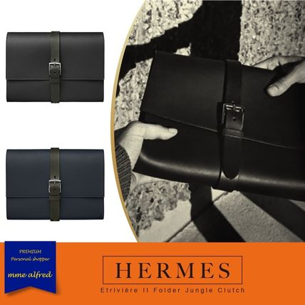 10114ea040 HERMES Bag in Bag Plain Leather Clutches by alfred - BUYMA
