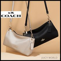 Coach Casual Style 2WAY Plain Leather Shoulder Bags