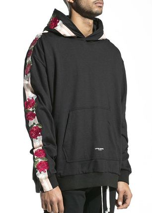 Pullovers Stripes Flower Patterns Sweat Street Style