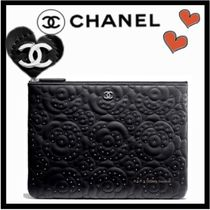 CHANEL ICON Flower Patterns Casual Style Calfskin Studded Bag in Bag