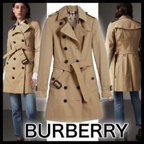 Burberry Casual Style Plain Medium Trench Coats