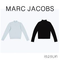 MARC JACOBS Cable Knit Cashmere Long Sleeves Plain Medium High-Neck