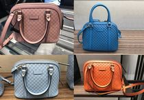GUCCI Monoglam Casual Style 2WAY Leather Shoulder Bags